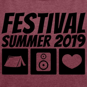 Festival Summer 2019 - Women's T-shirt with rolled up sleeves
