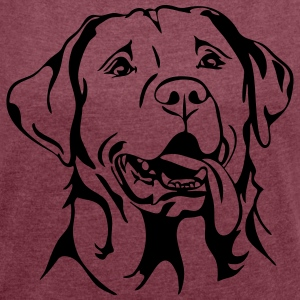 LABRADOR PORTRAIT - Women's T-shirt with rolled up sleeves