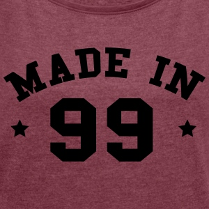 Made in 99 - Dame T-shirt med rulleærmer