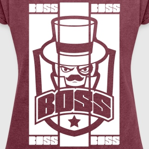 BOSS_BRAND - Women's T-shirt with rolled up sleeves
