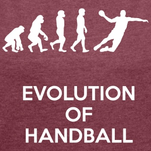 Evolution of handball - Women's T-shirt with rolled up sleeves
