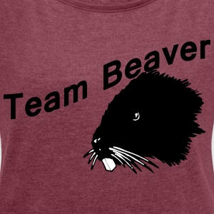 Team beaver - Women's T-shirt with rolled up sleeves