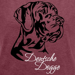 German Mastiff - Women's T-shirt with rolled up sleeves