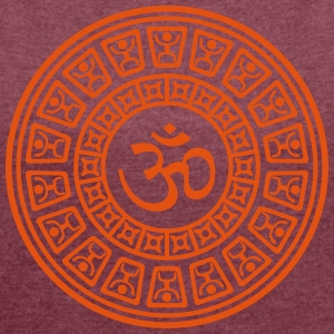 Om Maya One Color - Women's T-shirt with rolled up sleeves