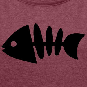 fish - Women's T-shirt with rolled up sleeves