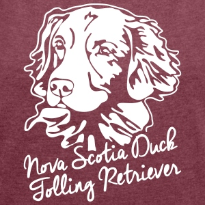 Nova Scotia Duck Tolling Retriever PORTRAIT - Women's T-shirt with rolled up sleeves