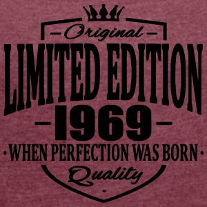 Limited edition 1969 - Women's T-shirt with rolled up sleeves