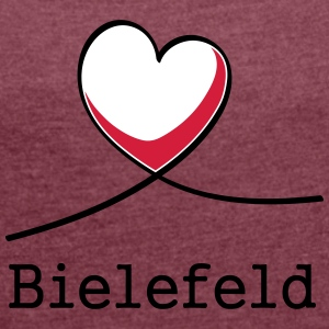 I love Bielefeld! - Women's T-shirt with rolled up sleeves
