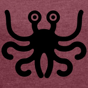 flying spaghetti monster - Women's T-shirt with rolled up sleeves