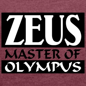 Zeus _-_ Master_Of_Olympus - Women's T-shirt with rolled up sleeves