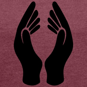 Hands in Prayer - Women's T-shirt with rolled up sleeves