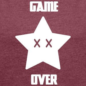 Game Over - Mario Star - Frauen T-Shirt mit gerollten Ärmeln