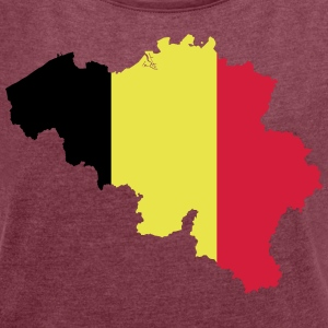 Belgium - Women's T-shirt with rolled up sleeves