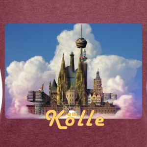 Kölsches Luftschloss - Women's T-shirt with rolled up sleeves