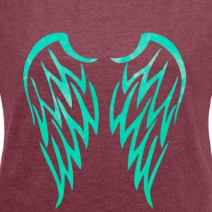 wings - Women's T-shirt with rolled up sleeves