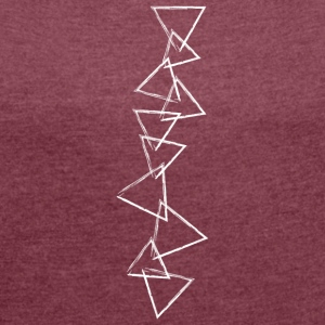 Triangles Art - Women's T-shirt with rolled up sleeves
