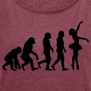 ++ ++ BALLET EVOLUTION - Women's T-shirt with rolled up sleeves