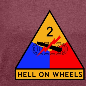 2nd_Armored_Division - Women's T-shirt with rolled up sleeves