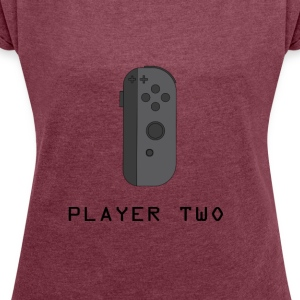 ¿Ready Player Two? - Camiseta con manga enrollada mujer