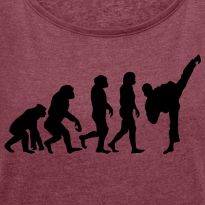 ++Martial Arts Evolution++ - Frauen T-Shirt mit gerollten Ärmeln