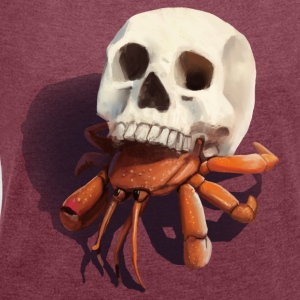 Skull Hermit Crab - Women's T-shirt with rolled up sleeves