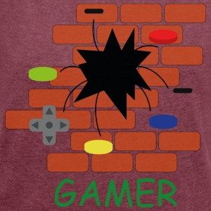 Gamer - Women's T-shirt with rolled up sleeves
