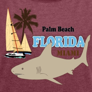 USA Florida - Women's T-shirt with rolled up sleeves