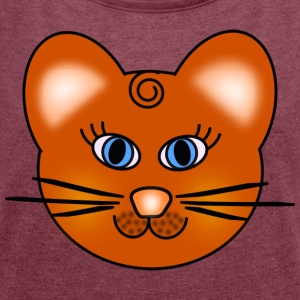 Cat and mouse? - Women's T-shirt with rolled up sleeves