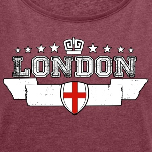 London - Women's T-shirt with rolled up sleeves