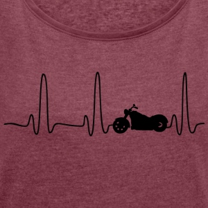 EKG HERLINIE BIKE black - Women's T-shirt with rolled up sleeves