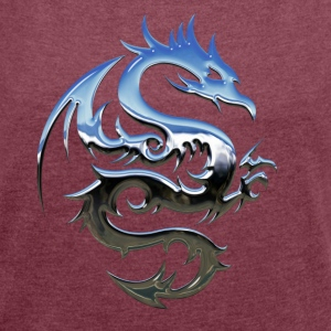 dragon Tribal - Women's T-shirt with rolled up sleeves