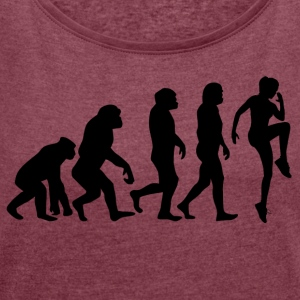 ++ ++ SPORTSWOMAN EVOLUTION - Women's T-shirt with rolled up sleeves