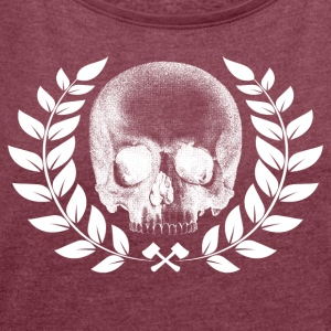 scull - Women's T-shirt with rolled up sleeves