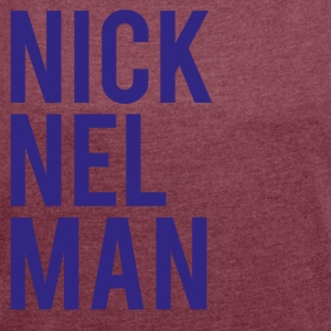 Nick Elman-01 - Women's T-shirt with rolled up sleeves