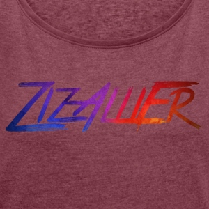 rainbow ZizAlliEr - Women's T-shirt with rolled up sleeves