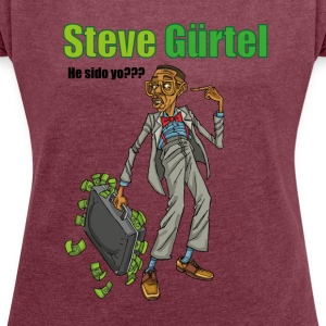 STEVE GÜRTEL - Women's T-shirt with rolled up sleeves