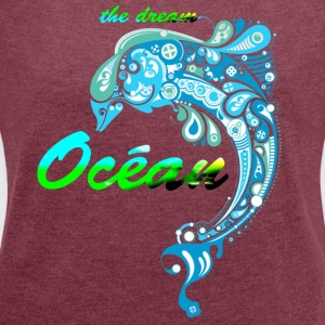 THE OCEAN DREAM - Dame T-shirt med rulleærmer