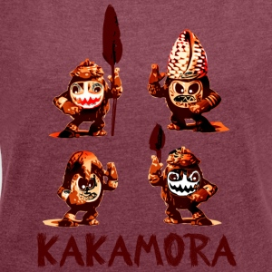 kakamora Coconut monsters pirates südsee movie Crawling - Women's T-shirt with rolled up sleeves