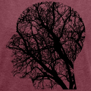 tree head - Women's T-shirt with rolled up sleeves