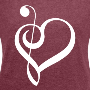 Music is life ! - Women's T-shirt with rolled up sleeves