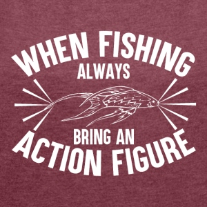 Fishing - Action Figure - Women's T-shirt with rolled up sleeves
