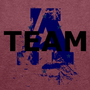 Marine TEAM - Women's T-shirt with rolled up sleeves