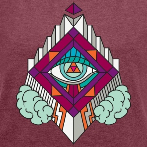 Geometry Geometric GeomTRIBE tattoo KoralDesign - Women's T-shirt with rolled up sleeves