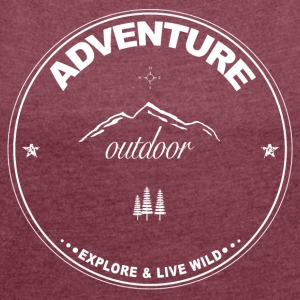 Adventure - Outdoor - Frauen T-Shirt mit gerollten Ärmeln
