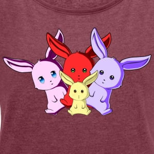 Bunny Team - Women's T-shirt with rolled up sleeves
