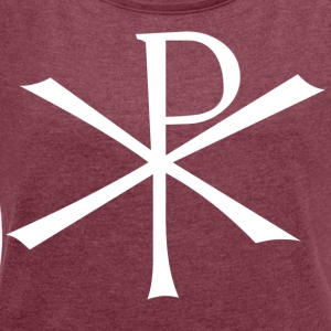Christ Monogram - Women's T-shirt with rolled up sleeves