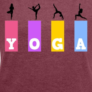 yoga - Women's T-shirt with rolled up sleeves