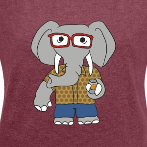 Drunk Elephant - Women's T-shirt with rolled up sleeves