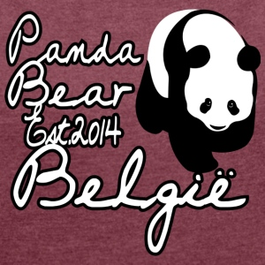 Panda Brugelette - Women's T-shirt with rolled up sleeves