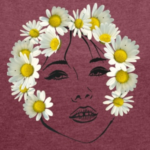 Flower girl transparent - Women's T-shirt with rolled up sleeves